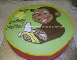 curious george birthday cake coolest curious george cakes