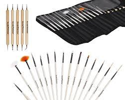 20pc nail art design painting dotting pen brushes tool kit set