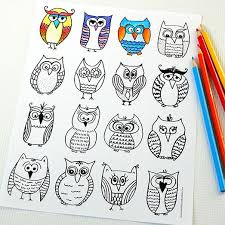 owl coloring page free printable owl and parents