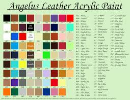 angelus color chart my shoe repair specialist kande shoe