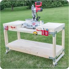 Table Saw Stand With Wheels Diy Mobile Miter Saw Stand From The Pursuit Of Handyness Home