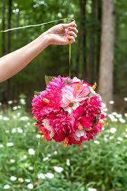 hanging flower balls in decoration and wedding indoor and outdoor