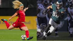 nfl game day with julie and zach ertz si com