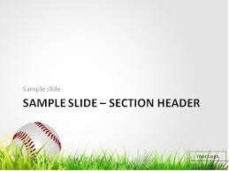free baseball powerpoint templates free sports powerpoint