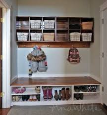 Hidden Storage Shoe Bench Mudroom Makeover Project Boot Storage Mudroom And Bench