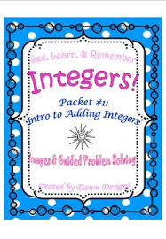 integer worksheet bundle of operations learning math and