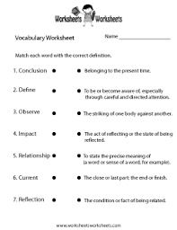 vocabulary worksheets free printable worksheets for teachers and