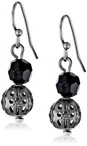 black drop earrings 1928 jewelry black dangle earrings drop earrings