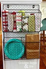 wire baskets on the side pantry and end of