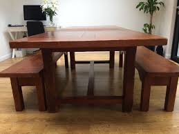 johnlewis bergerac solid french oak dining table and benches in