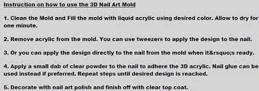 1pcs latest fashion reusable acrylic silicone nail art mold
