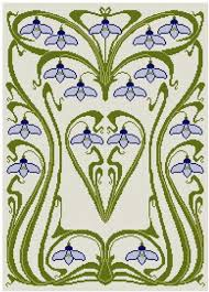 pattern art pdf art nouveau snow drop cross stitch pattern pdf cross stitch pdf