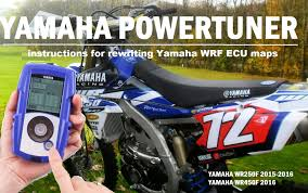 2016 yamaha wrf gytr power tuner instructions for use youtube