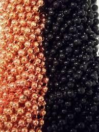 48 orange black round mardi gras beads party favors halloween