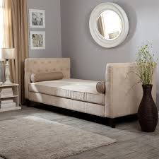 Daybed Chaise Lounge Sofa by Furniture White Leather Backless Sofa Daybed Buttons Tufted Arms