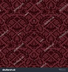 Western Drapery Wrapping Floral Damask Seamless Wallpaper Website Stock Vector