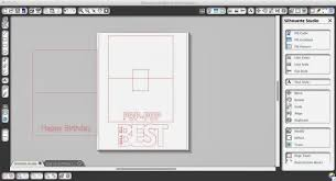 Invitation Card Maker Software Basic Silhouette Pop Up Card Tutorial Free Studio Pop Up