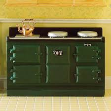 the dolls house emporium large green aga style stove