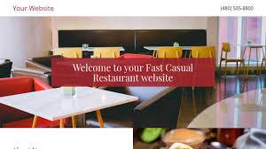 fast casual restaurant website templates godaddy