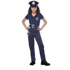 Cute Girls Halloween Costumes Cute Law Abiding Enforcer Police Shirt Pants Costume Halloween