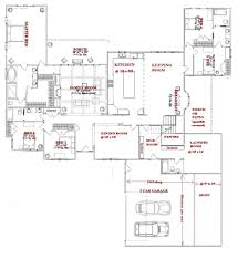 5 bedroom one story floor plans with house on any trends images