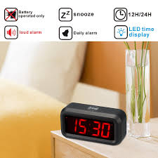wall mounted digital alarm clock amazon com kwanwa led digital alarm clock battery powered only