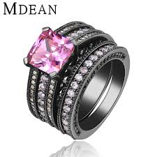 black and pink engagement rings online get cheap engagement rings black diamonds aliexpress