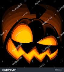 vector cartoon halloween pumpkin silhouette evil stock vector