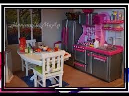 18 inch doll kitchen furniture by request detailed kitchen room tour in my doll