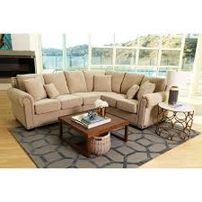 claire leather reversible sectional and ottoman alexandra upholstered sectional sofa beige sam s club