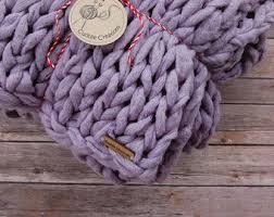 Lavender Throw Rugs Chunky Knit Blanket Etsy