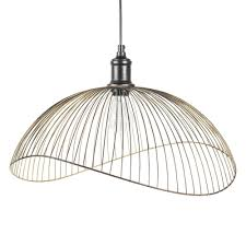 Wire Pendant Light Black Metal Wire Pendant D 48 Cm Maisons Du Monde