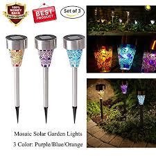 solar stake lights outdoor solar led garden lights outdoor stake lights solar mosaic import