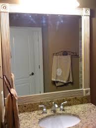 Trim Around Bathroom Mirror Project Cbell Trim Around My Guest Bathroom Mirror Wood Trim