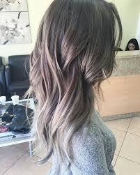 dark hair with grey streaks medium brunette with golden highlights neil george of ash gray