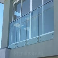 exterior wood deck frameless glass railing design