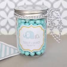favor jars blue elephant personalized mini favor jars