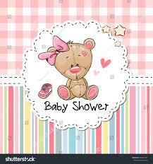 baby shower greeting card cute cartoon stock vector 500097427
