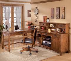 ashley furniture corner desk l shape desk with credenza and large low hutch by ashley furniture