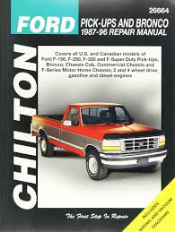 96 Ford Diesel Truck - chilton ford trucks and bronco 1987 1996 repair manual 26664