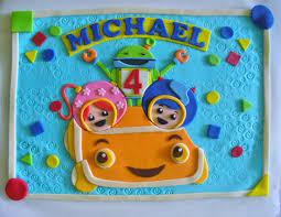 team umizoomi cake team umizoomi milli geo bot umicar personalized fondant cake