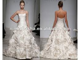 wedding dress brand strapless dropped waist sweetheart neckline amsale bijou wedding