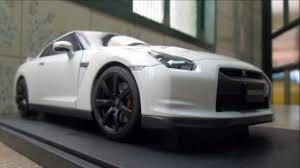 nissan gtr youtube review nissan gtr r35 optional matt black wheels autoart 1 18 youtube
