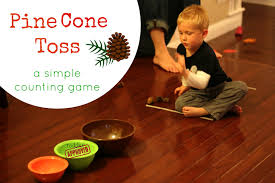 thanksgiving games for preschoolers toddler approved fall pine cone toss a simple counting game