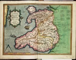 Map Of Wales Cambriae Typus Auctore Humphredo Lhuydo Denbigiense Cambrobritano