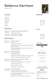 Resume Examples For Retail by General Labor Resume Samples Visualcv Resume Samples Database