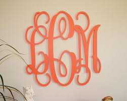 24 painted wood monogram initials wall decor hanging wooden