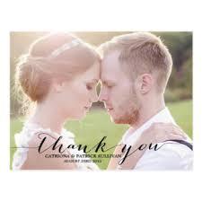wedding thank you postcards custom wedding thank you postcards zazzle ca