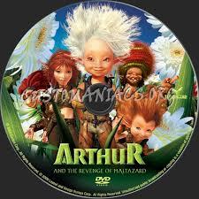 arthur revenge maltazard dvd label dvd covers