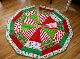 quilted tree skirts happy holidays
